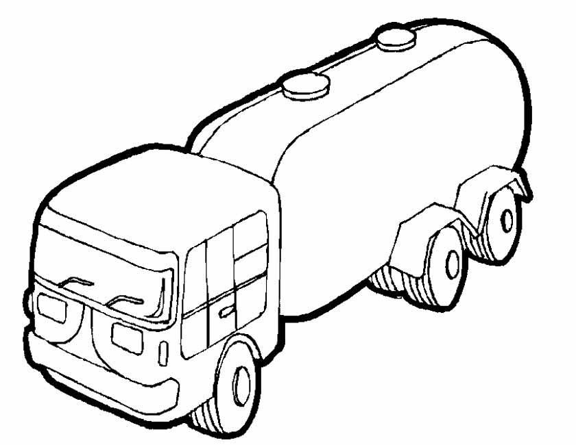 Gratis kleurplaat tankwagen