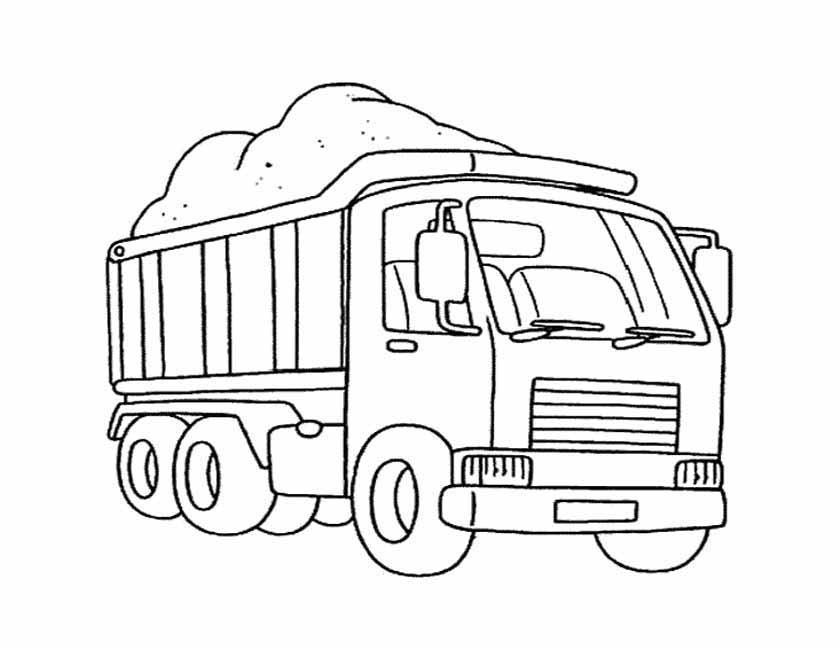 Gratis kleurplaat vrachtauto