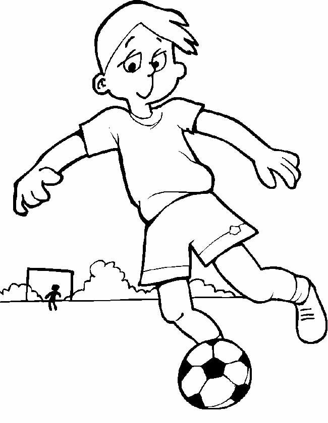 Kleuren Nu Voetballende Jongen En Keeper Kleurplaten