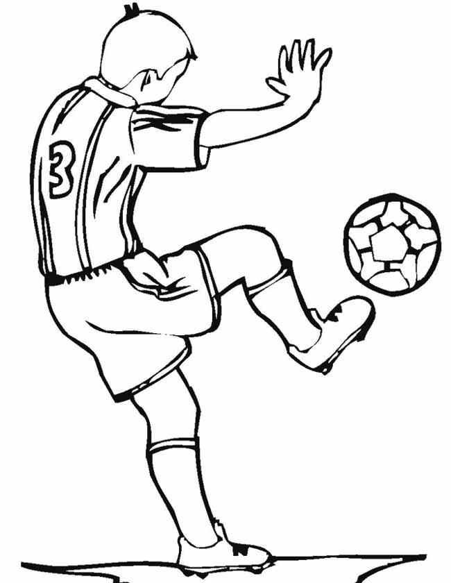 Gratis kleurplaat voetballer