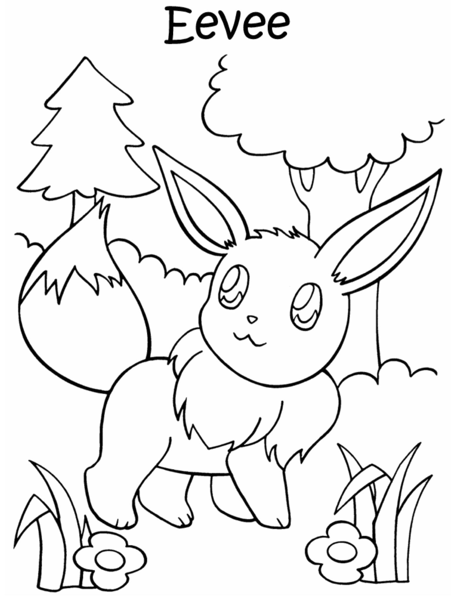 Kleurplaten Pokemon Eevee.Kleuren Nu Pokemon Eevee Kleurplaten