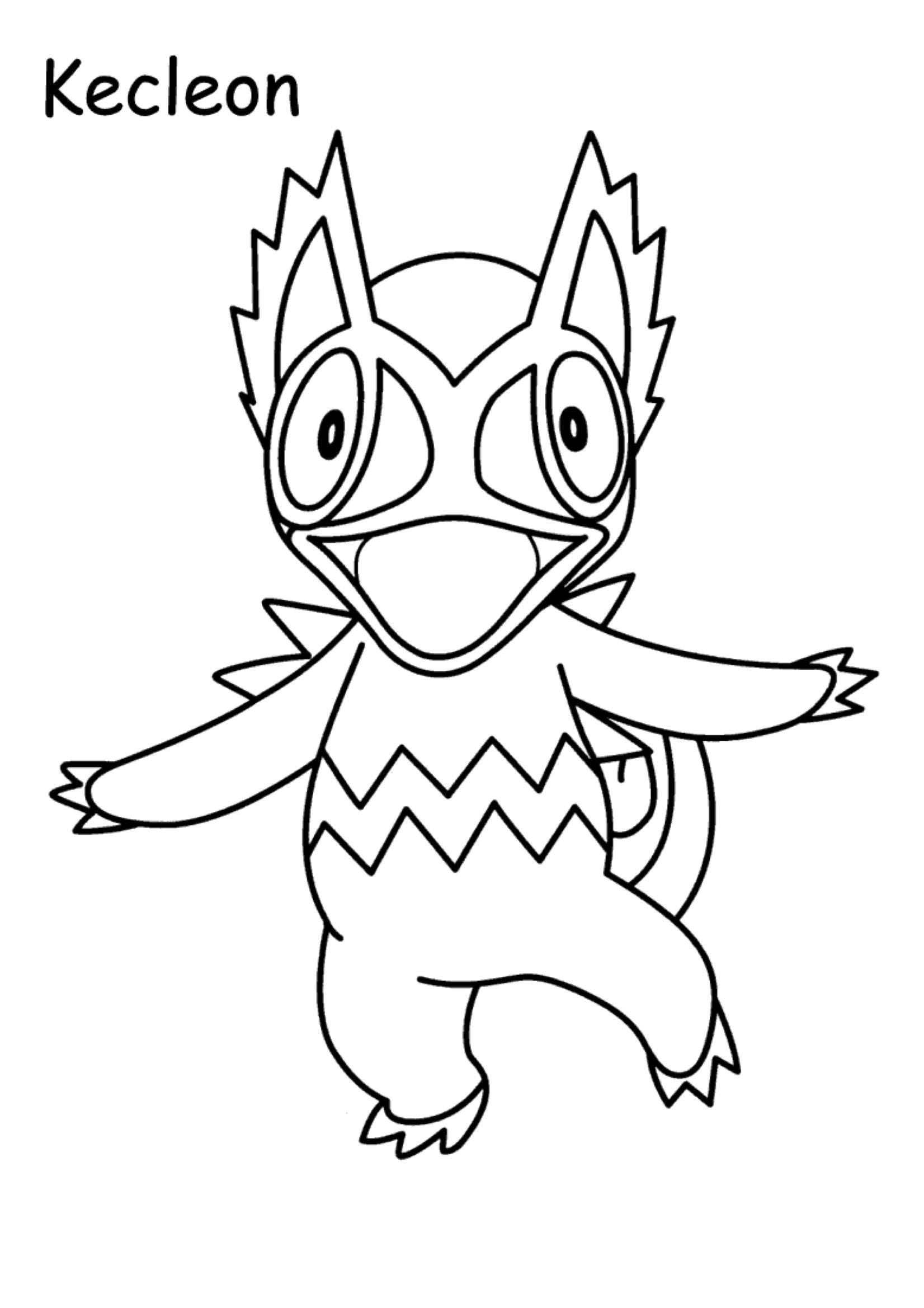 Gratis Kleurplaten Pokemon.Kleuren Nu Pokemon Kecleon Kleurplaten