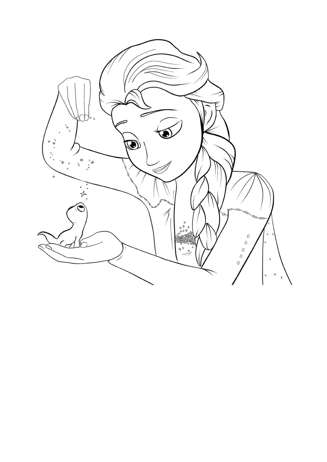 Gratis kleurplaat Elsa